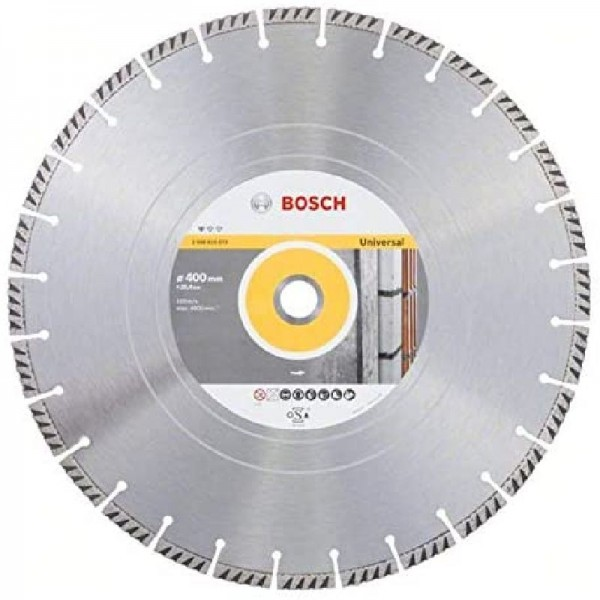 Bosch Professional Diamanttrennscheibe (Beton und Mauerwerk, 400 x 25,40 mm)