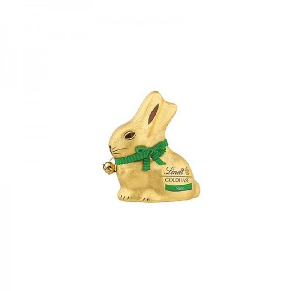 Lindt Goldhase Alpenvollmilch Schokolade mit Haselnusssplitter 50g