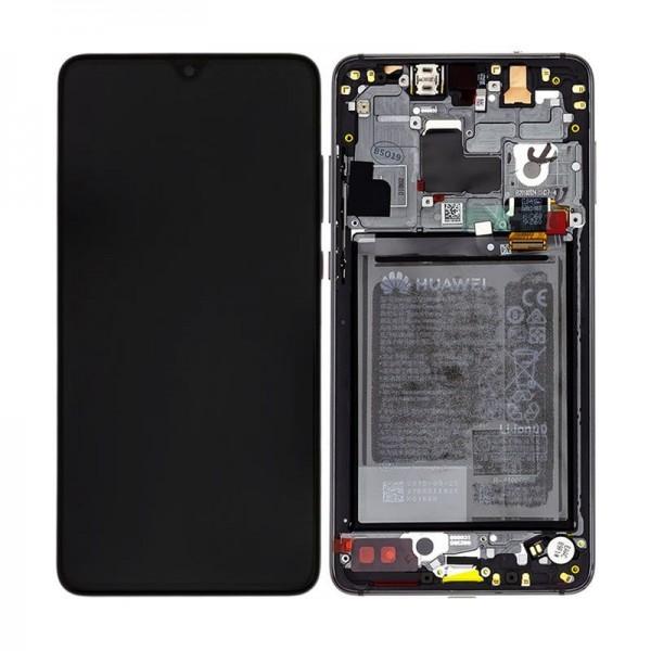 Original Huawei Mate 20 LCD Display mit Rahmen und Akku, Black