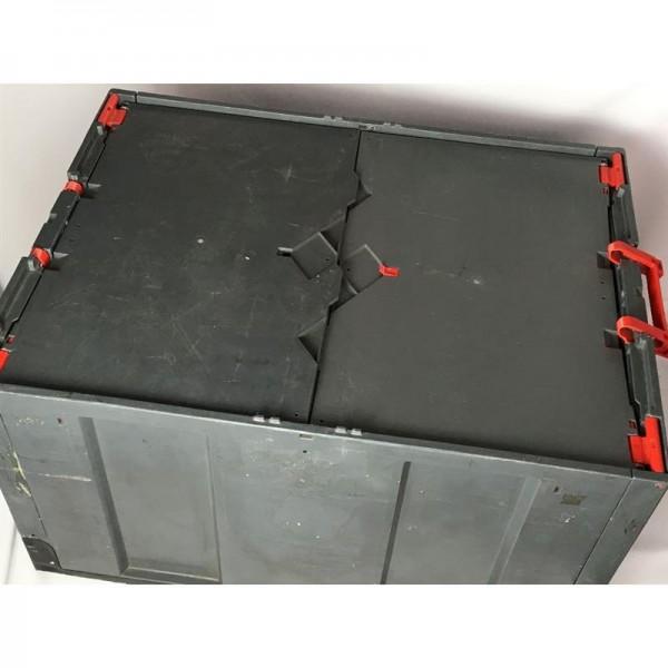 Klappboxen,mit Deckel,Klappkiste,Kunststoffbox,Faltbox,Schwerlast 80 x 60 x 45 cm