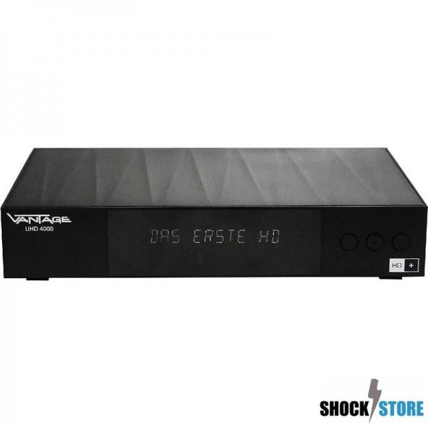 Vantage UHD 4000, Inklusive HD+, UHD Satellitenreceiver, HDTV, Twin Tuner,HDMI