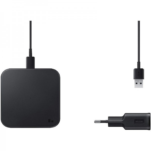 Samsung Wireless Charger Pad EP-P1300T inkl. Ladeadapter, Black