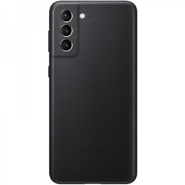 Original Samsung Leather Cover EF-VG996 für Galaxy S21+ 5G, Black