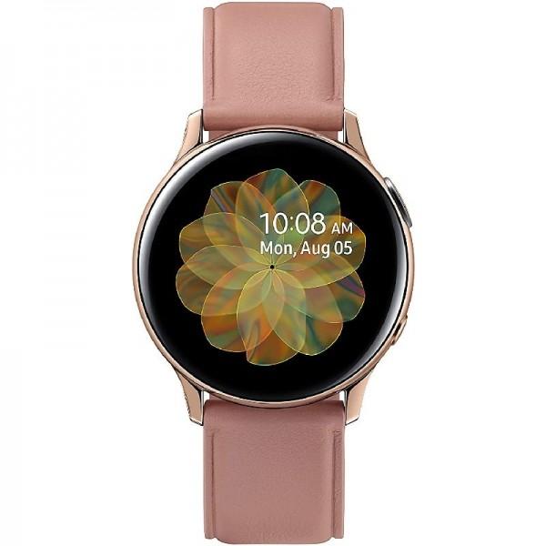 Samsung Galaxy Watch Active2, Fitnesstracker aus Edelstahl, 40 mm, LTE, Gold
