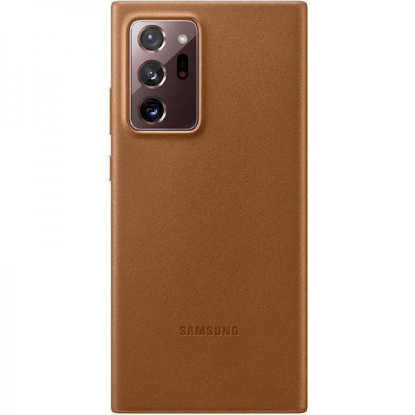 Original Samsung Leather Smartphone Cover EF-VN985 für Galaxy Note20 Ultra 5G, echtes Leder, braun