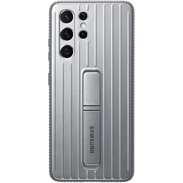 Original Samsung Protective Standing Cover EF-RG998 für Galaxy S21 Ultra 5G Gray