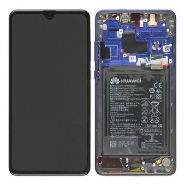 Original Huawei Mate 20 LCD Display mit Rahmen und Akku,Twilight Blue