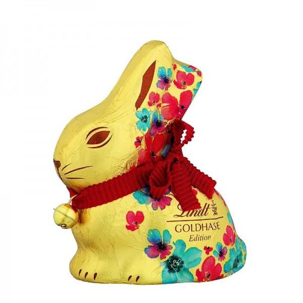 Lindt Goldhase Blumen Edition aus leckerer Alpen Vollmilch Schokolade 200g