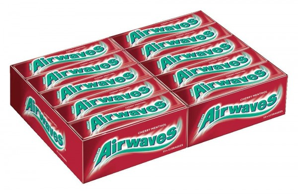 Airwaves Cherry Menthol 30er Pack (30x12 Dragees)