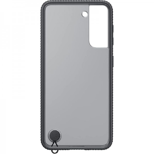 Original Samsung Clear Protective Cover EF-GG991 für Galaxy S21 5G, Black
