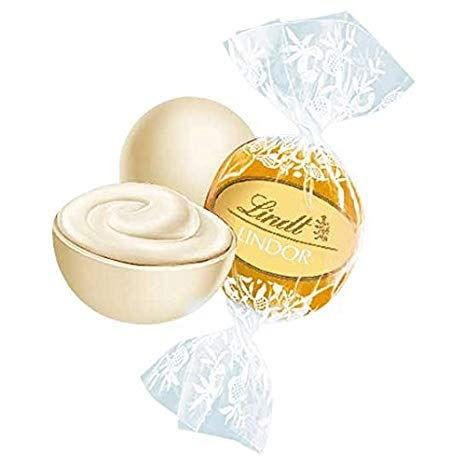 Lindt Lindor Weiß 1 kg, gefüllt mit Lindor Kugeln aus weißer Lindt Chocolade