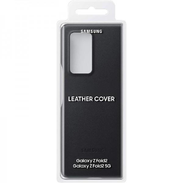 Samsung echtes Leather Backcover für das Galaxy Z Fold2 - Schwarz