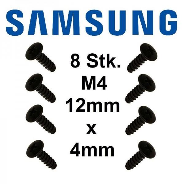 Original Samsung TV Standschrauben BN96-29120B M4 Schraube 12mm x 4mm - 8 Stück