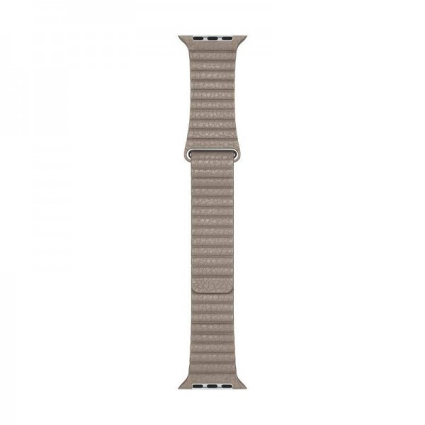 Original Apple Lederarmband Apple Leather Loop M 44 mm Stone Leather MTHC2ZM/A
