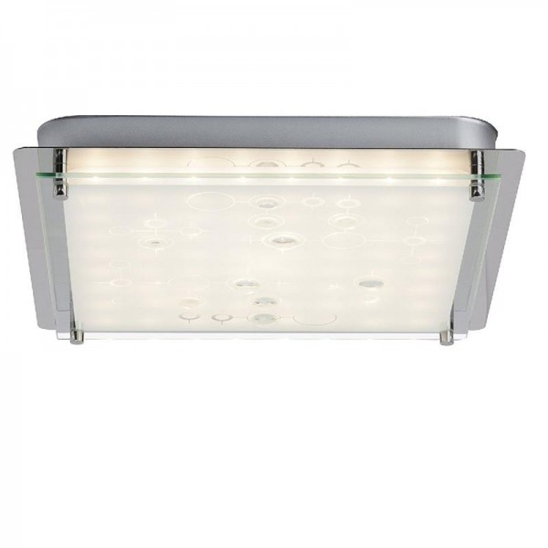 Brilliant Salvia Wand-Deckenleuchte, LED, 12 W, 2700K, Metall Glas, Chrom/Weiß