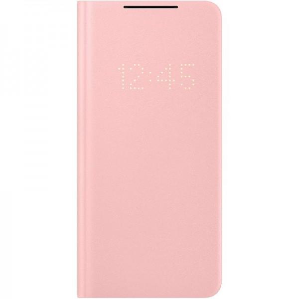 Original Samsung LED View Cover EF-NG996 für Galaxy S21+ 5G, Pink