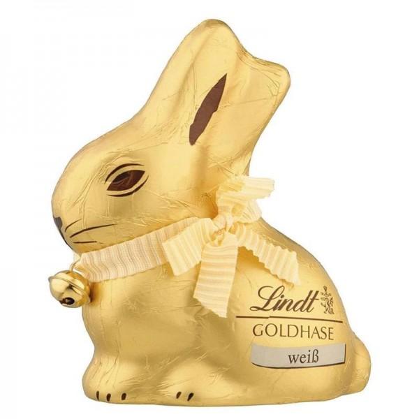Lindt Goldhase weiß aus feiner weißer Schokolade Hohlfigur 100g