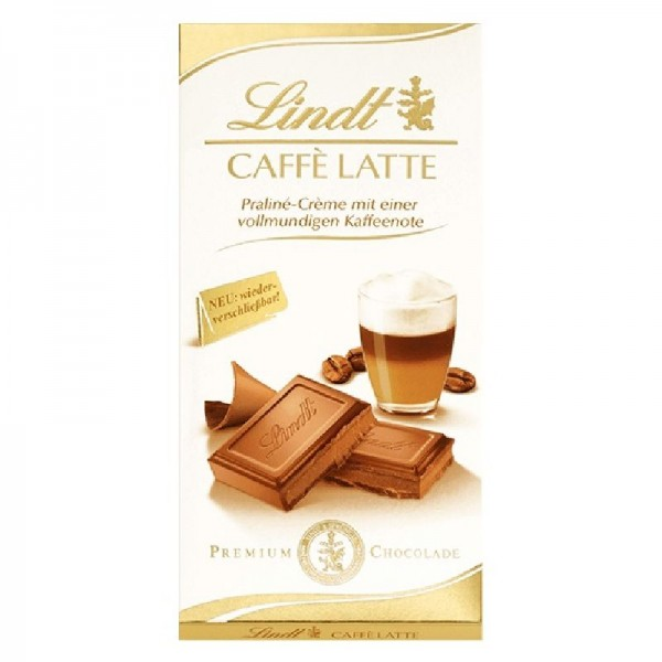 Lindt CAFFÈ LATTE Praline Creme 100 Gramm mit Kaffeenote