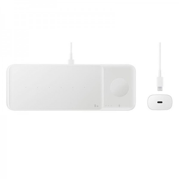Samsung Wireless Charger Trio - Indoor - USB - Kabelloses Aufladen - Weiß
