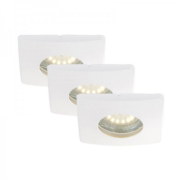 Briloner LED Einbauleuchten, Einbaustrahler, Einbauspots, 3-er Set