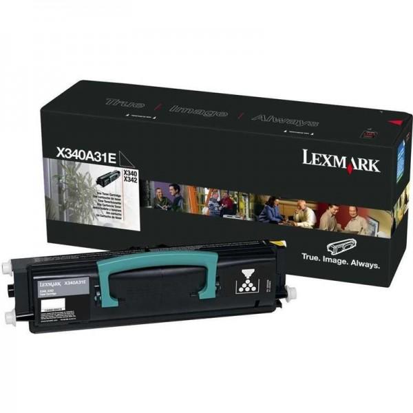 Lexmark X340A31E Toner schwarz, 2.500 Seiten ISO/IEC 19752 für X 340/340 N/342/342 N