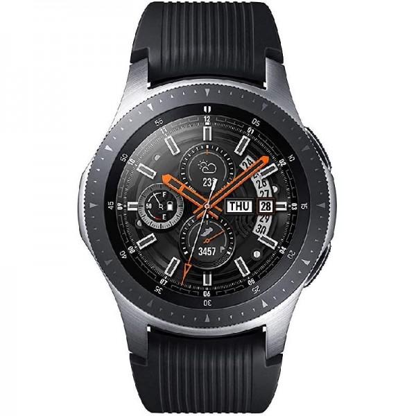 Samsung Galaxy Watch Fitnesstracker Armbanduhr SM-R800 Smartwatch 46mm silber