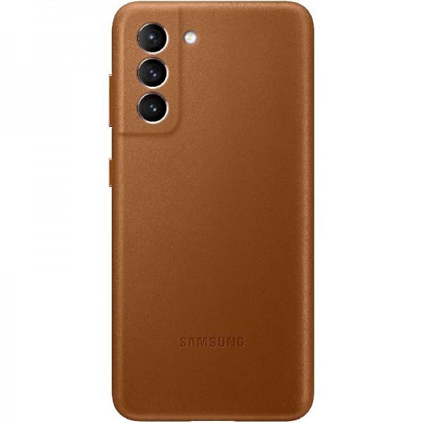 Original Samsung Leather Cover EF-VG996 für Galaxy S21+ 5G, Brown