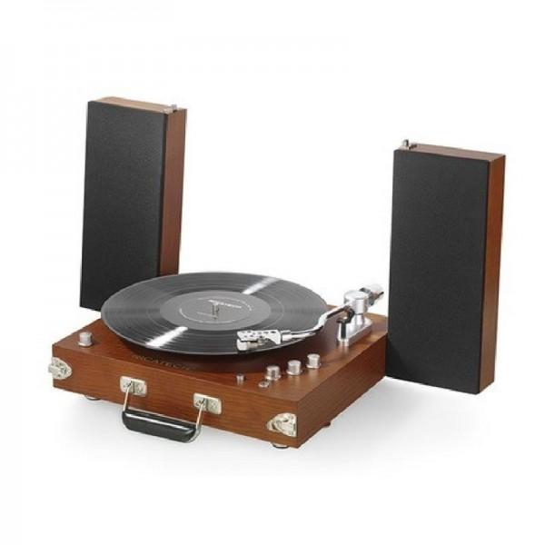Ricatech RTT99 USB-Schallplattenspieler, Vintage-Holz-Look, Ohne Nadel