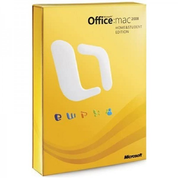 Microsoft Office 2008 Mac Home & Student Edition Neuware in OVP & Folie