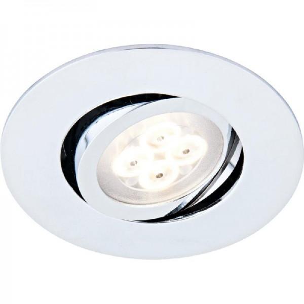 FLECTOR LED-Einbauleuchten-Set, 5 Stk., chrom
