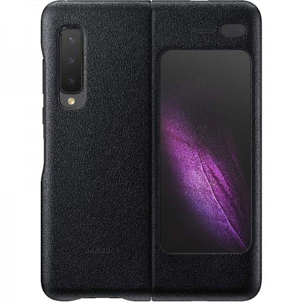 Samsung Leather Cover EF-VF907 für Galaxy Fold 5G, Schwarz
