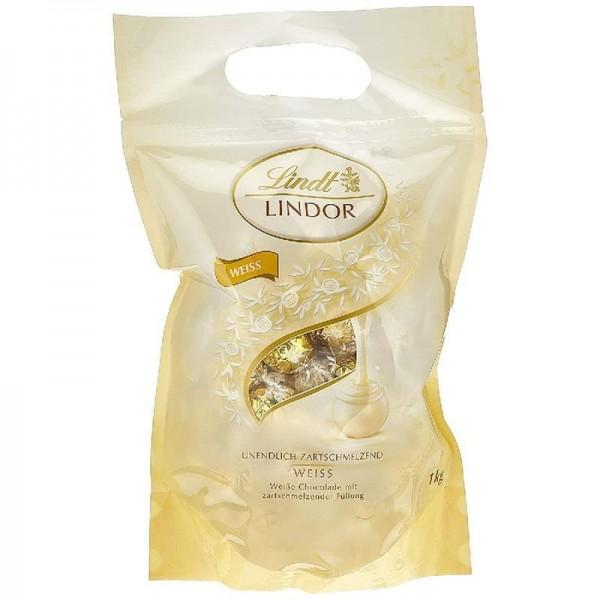 Lindt Lindor Beutel Weiß 600g, gefüllt mit Lindor Kugeln aus weißer Lindt Chocolade