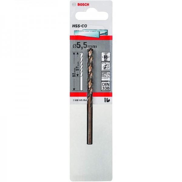 Bosch Professional Metallbohrer HSS-Cobalt (Ø 5 mm), 5,5 x 57 x 93 mm, 1er-Pack