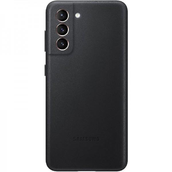 Original Samsung Leather Cover EF-VG991 für Galaxy S21 5G, Black