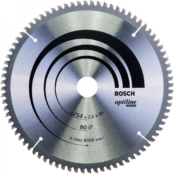 Bosch Professional Kreissägeblatt Optiline Wood ( für Holz, 254 x 30 x 2,5 mm)