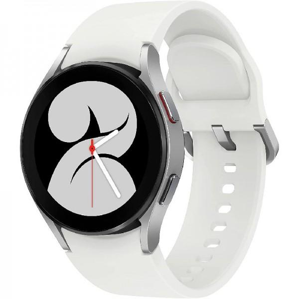 Samsung Galaxy Watch4, Runde LTE Smartwatch, Wear OS, Fitnessuhr, 44 mm, Silber