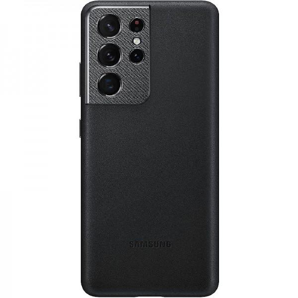 Original Samsung Leather Cover EF-VG998 für Galaxy S21 Ultra 5G, Black 6.9 Zoll