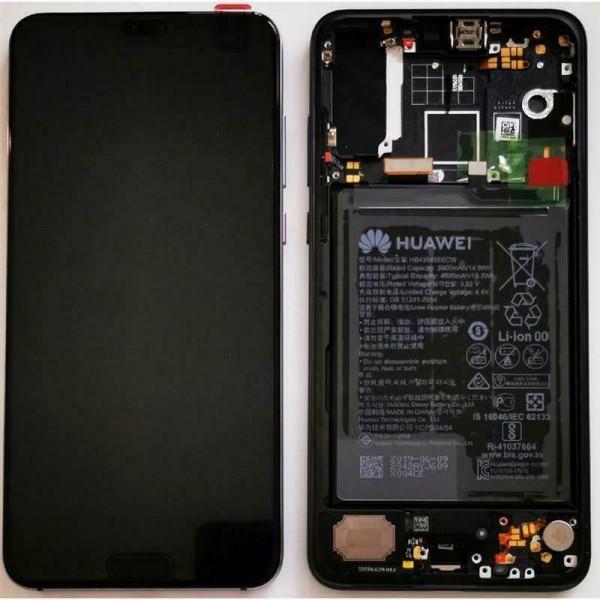 Original Huawei P20 Pro LCD Display mit Rahmen und Akku, Black