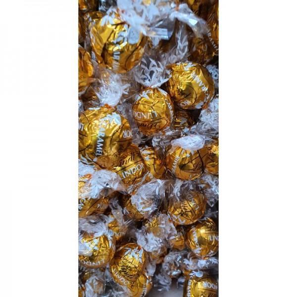 Lindt Lindor Caramel Milchschokoladenkugeln,1000 Gramm 80 Kugeln