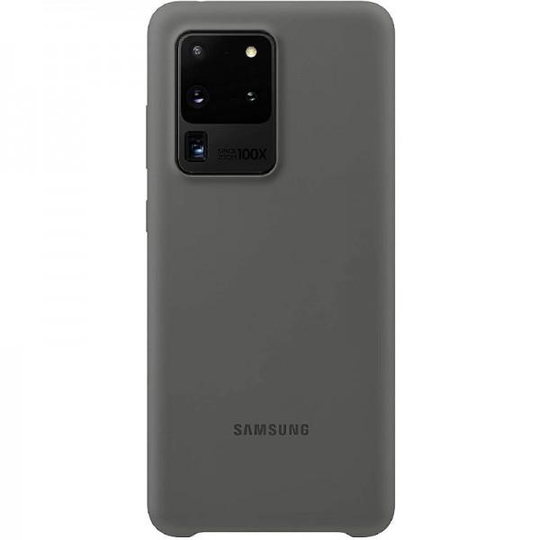 Original Samsung Silicone Smartphone Cover EF-PG988 für Galaxy S20 Ultra grey