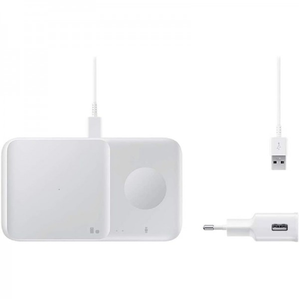 Samsung Wireless Charger Duo EP-P4300T inkl. Ladeadapter, Weiß
