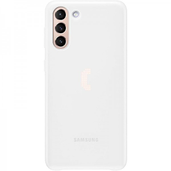 Original Samsung LED Cover EF-KG996 für Galaxy S21+ 5G, White