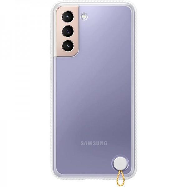Original Samsung Clear Protective Cover EF-GG991 für Galaxy S21 5G, White