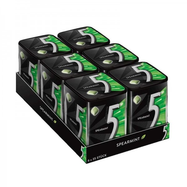 5 Gum Dose Spearmint, 6er Pack (6 x 35 Dragees)