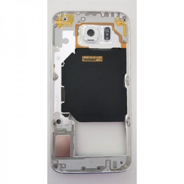 Original Samsung Galaxy S6 SM-G920F Mittelrahmen Rahmen Middle Frame Cover Weiß