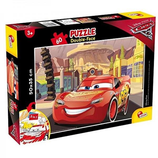 Lisciani Cars 3 Double Face 2-in-1 Puzzle & Malspaß, 60 Teile 60771, NEU&OVP