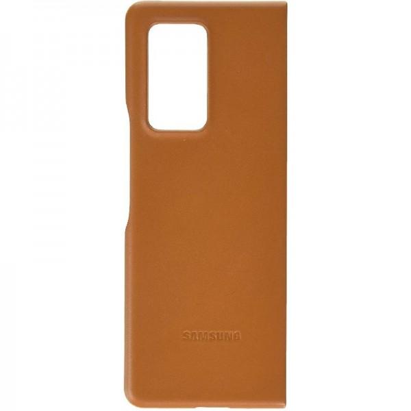 Samsung echtes Leather Backcover für das Galaxy Z Fold2 - Brown