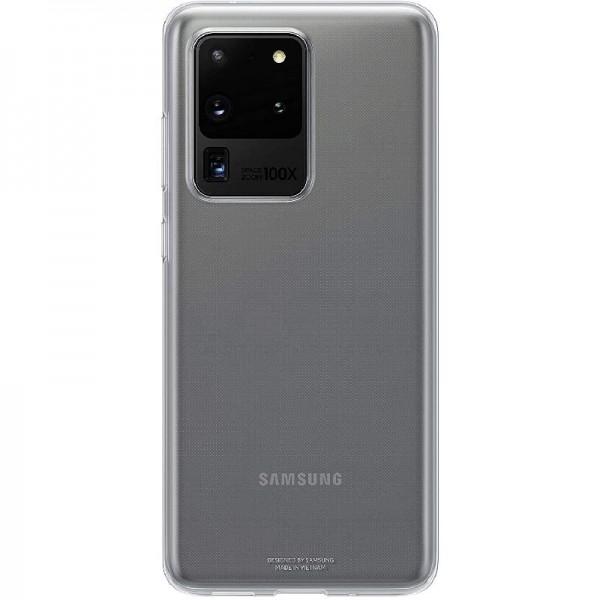 Original Samsung Clear Cover Smartphone Cover für Galaxy S20 Ultra Handy-Hülle