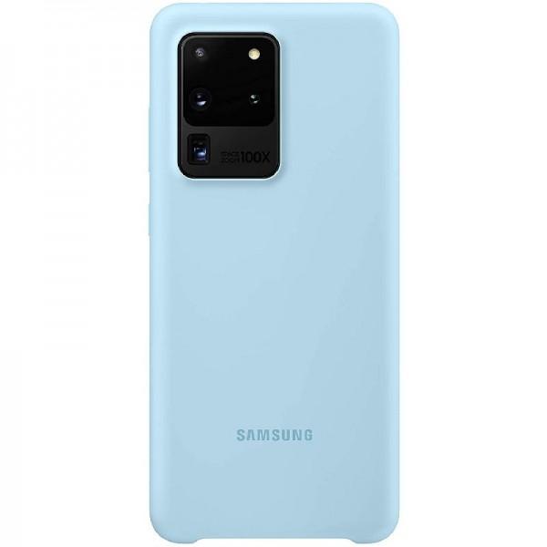 Original Samsung Silicone Cover EF-PG988 für Samsung Galaxy S20 Ultra, Sky Blue