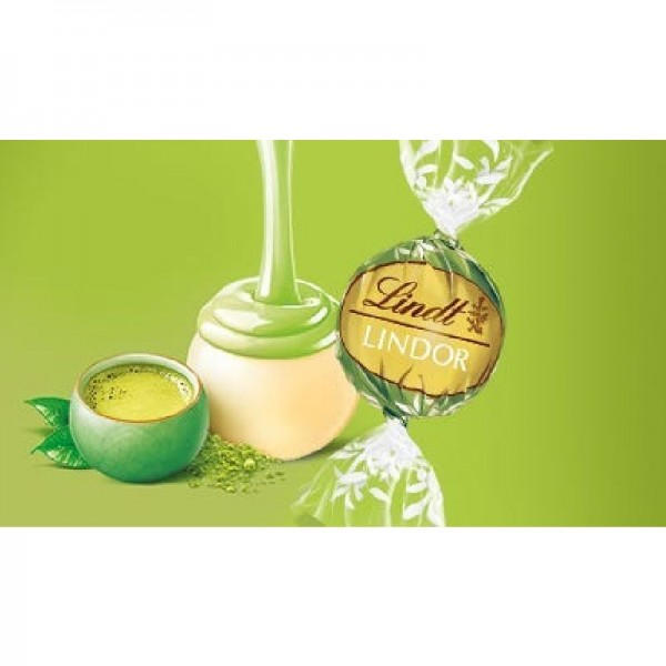 LINDOR Matcha, Weisse Schokolade mit zartschmelzenden Matchatee-Fu¨llung 600g